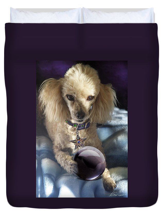 Dog Duvet Cover featuring the photograph The Wizard Of Dogs by Diana Haronis