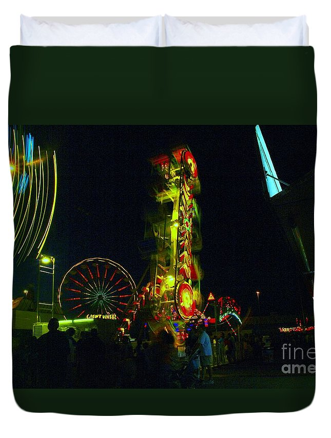 The Fair Duvet Cover featuring the photograph The Zipper by Jeff Swan