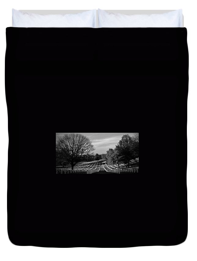 Cemetery Duvet Cover featuring the photograph They Gave All by Chris Berry