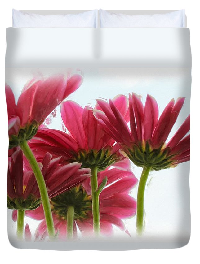 Flowers Duvet Cover featuring the photograph They Might Be Giants by Heidi Smith