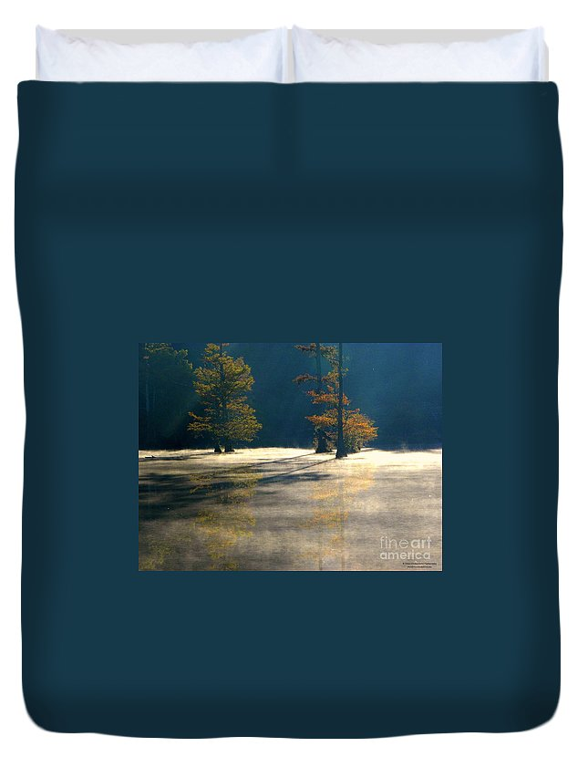 Mist Duvet Cover featuring the photograph Thick Mist by Tisha Clinkenbeard