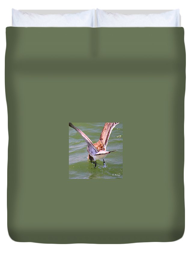 Roena King Duvet Cover featuring the photograph This Is How You Catch Them by Roena King