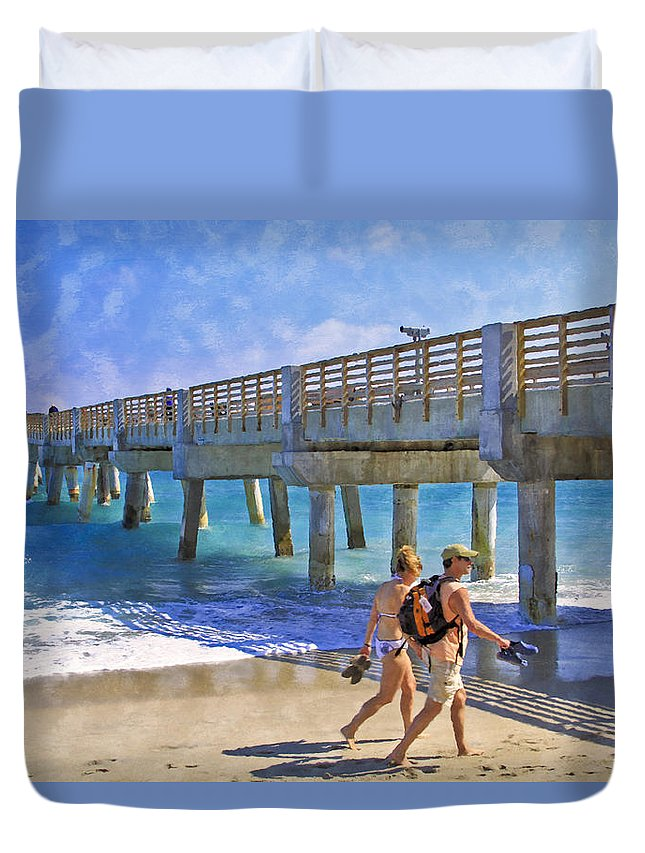 Clouds Duvet Cover featuring the photograph This Side Of Paradise by Debra and Dave Vanderlaan