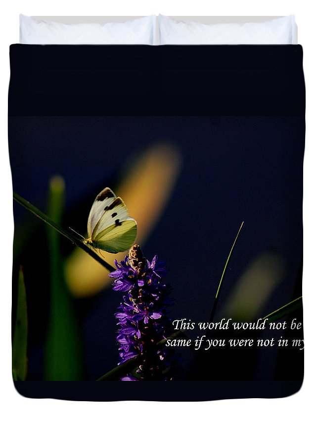 Cabbage Yellow Cards Duvet Cover featuring the photograph This World by Travis Truelove