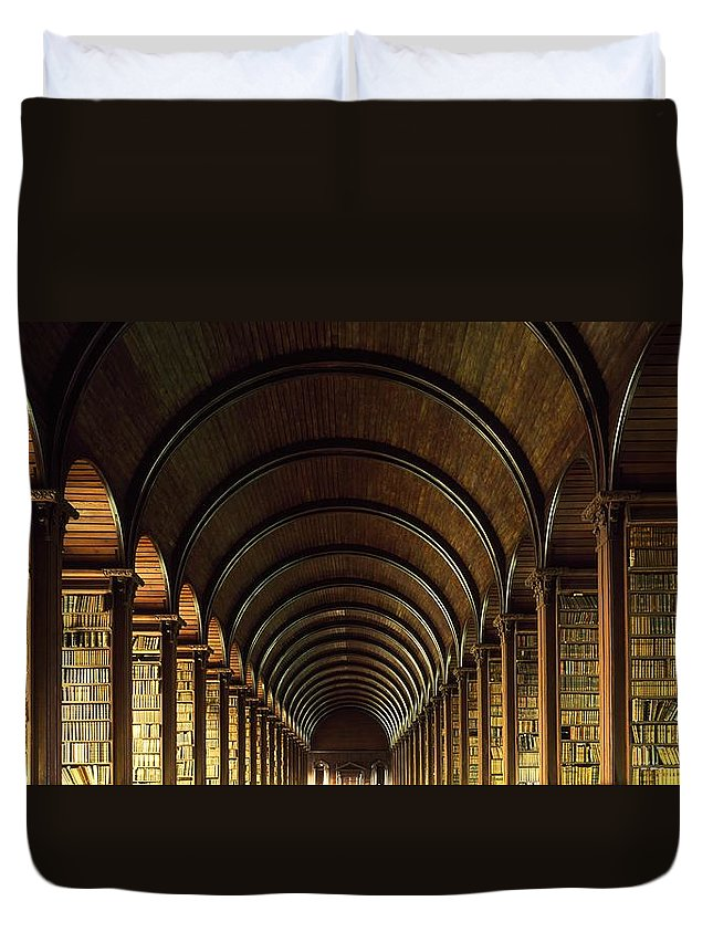 Books Duvet Cover featuring the photograph Thomas Burgh Library, Trinity College by The Irish Image Collection