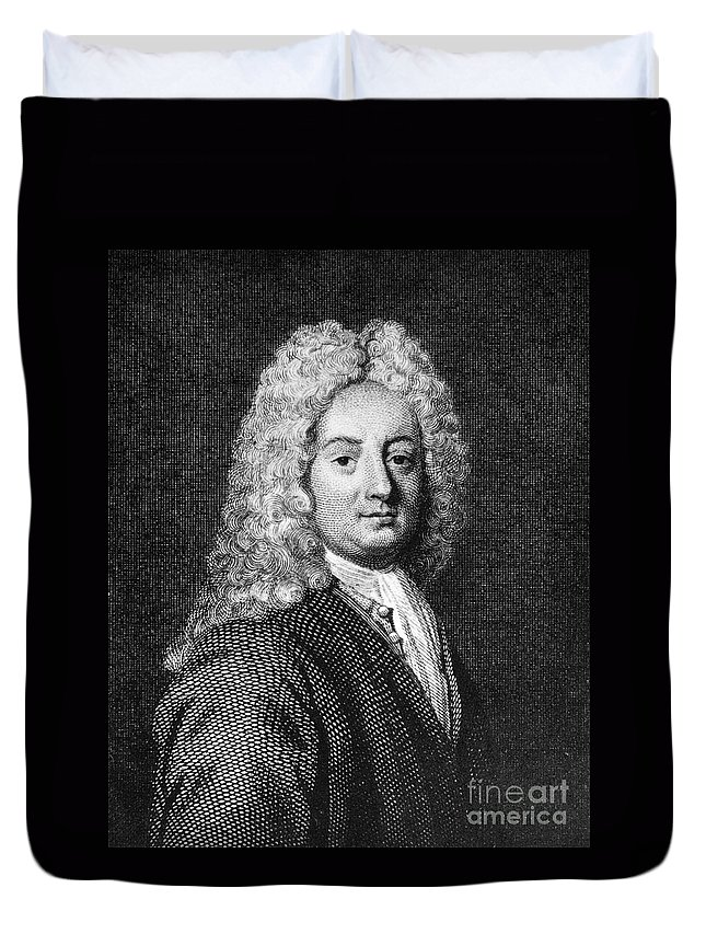 18th Century Duvet Cover featuring the photograph Thomas Forster (1675-1738) by Granger