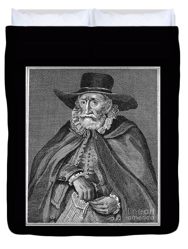 16th Century Duvet Cover featuring the photograph Thomas Hobson (1544-1631) by Granger