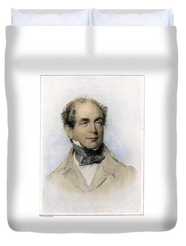 19th Century Duvet Cover featuring the photograph Thomas Moore (1779-1852) by Granger