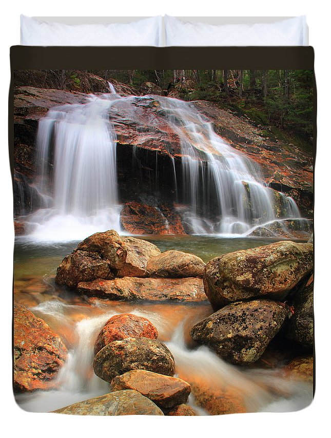 Waterfall Duvet Cover featuring the photograph Thomson Falls by Roupen Baker