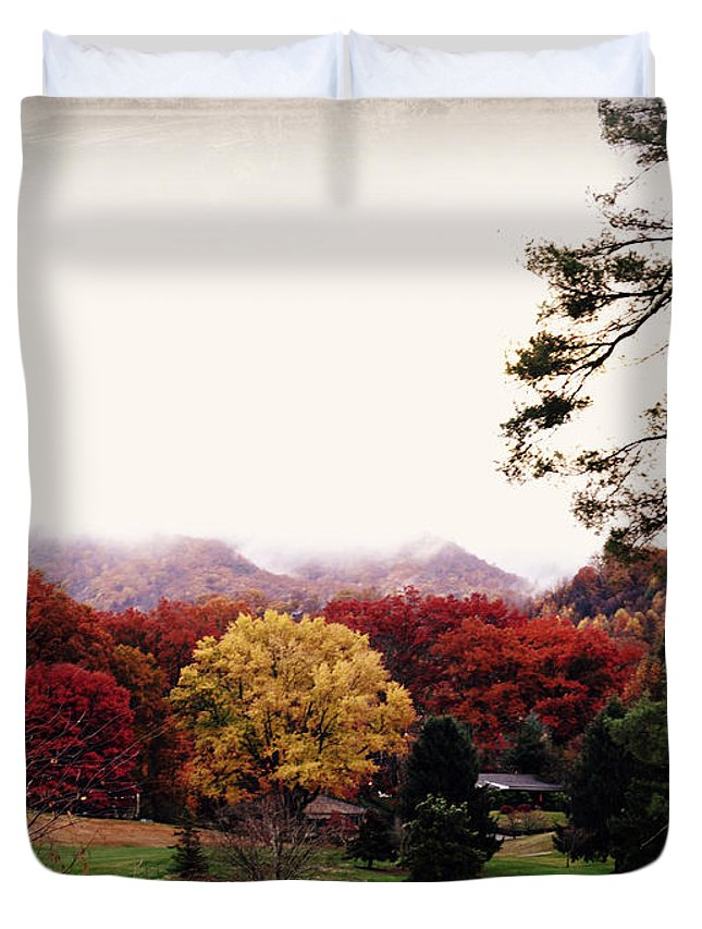 Nature Duvet Cover featuring the photograph Those Glorious Blue Ridge Mountains by Paulette B Wright
