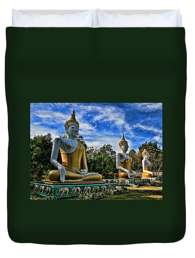 Architecture Duvet Cover featuring the photograph Three Of A Kind by Adrian Evans