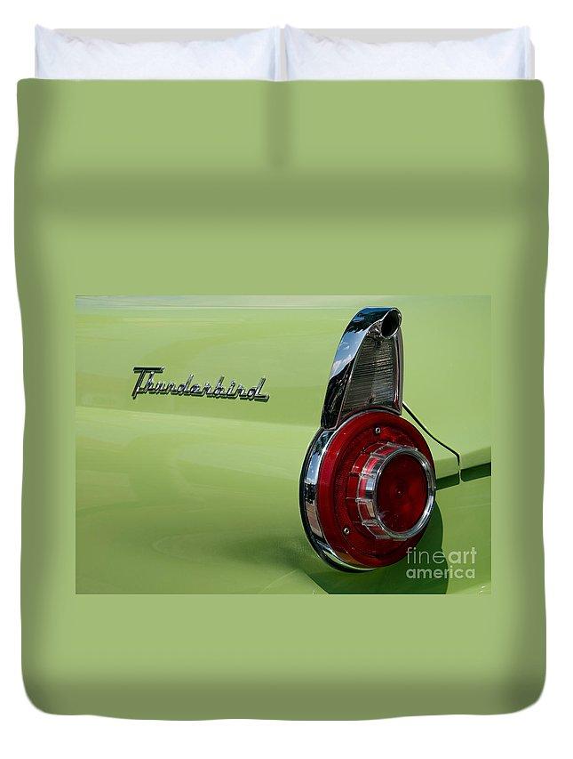 Thunderbird Duvet Cover featuring the photograph Thunderbird 1 by Vivian Christopher