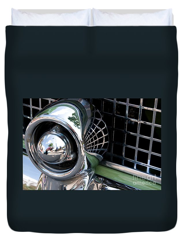 Thunderbird Duvet Cover featuring the photograph Thunderbird 3 by Vivian Christopher