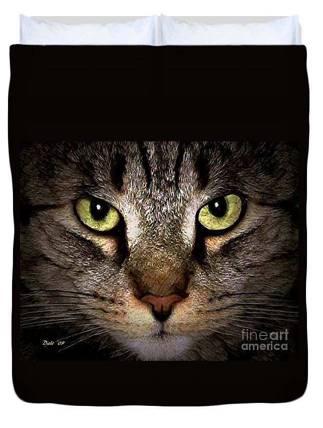 Cats Duvet Cover featuring the digital art Tiger Tiger by Dale  Ford