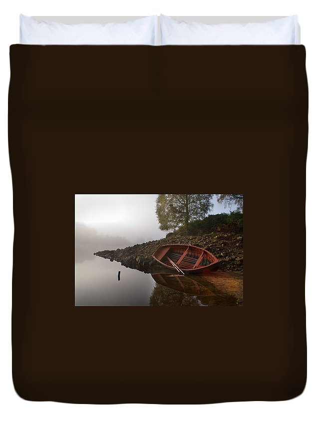 Mist Duvet Cover featuring the photograph Timeless Moment by Howard Kennedy