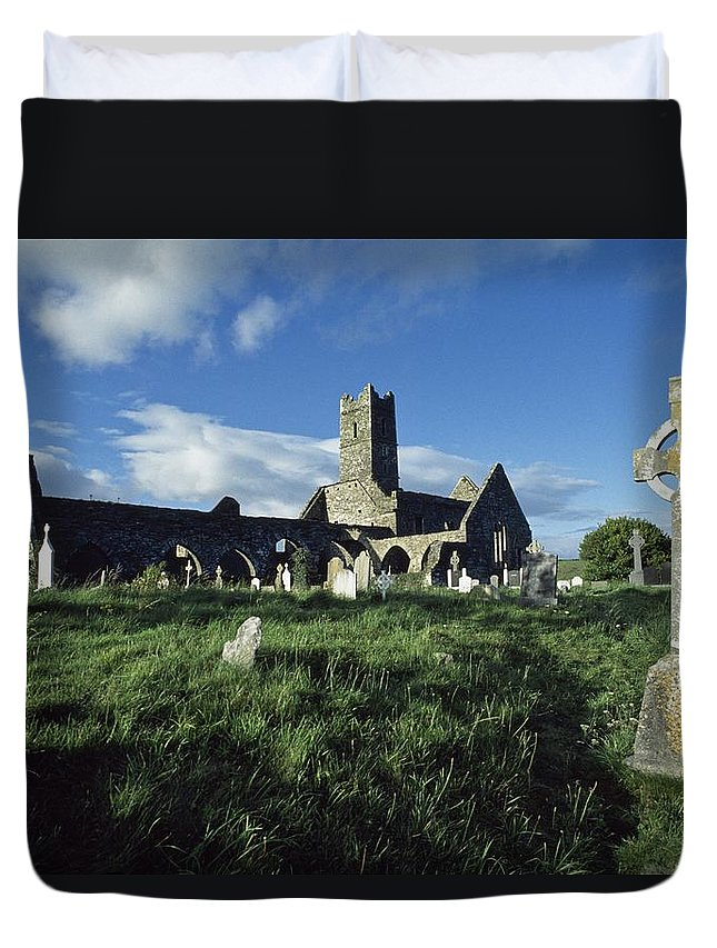 Cemetery Duvet Cover featuring the photograph Timoleague Abbey, Co Cork, Ireland 13th by The Irish Image Collection