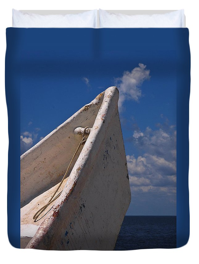 Tipping Point Duvet Cover featuring the photograph Tipping Point by Skip Hunt