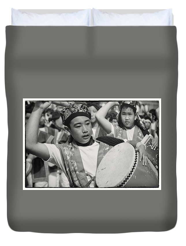 Tribal Duvet Cover featuring the photograph To The Beat Of The Drum by Diane Wood