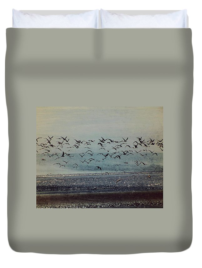 Ocean Duvet Cover featuring the photograph To The Sea by Amy Tyler