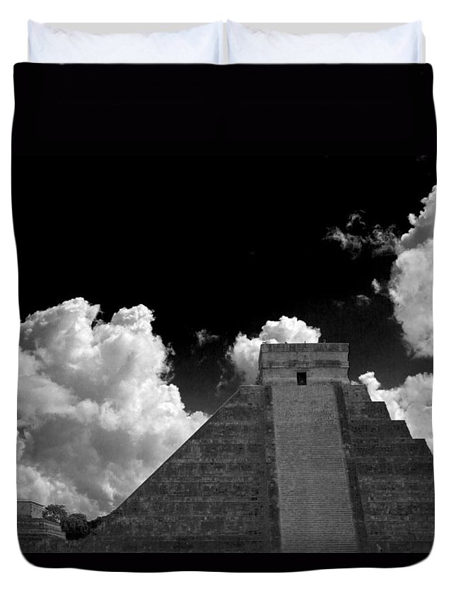Chichen Itza Duvet Cover featuring the photograph To The Top by Ken Frischkorn
