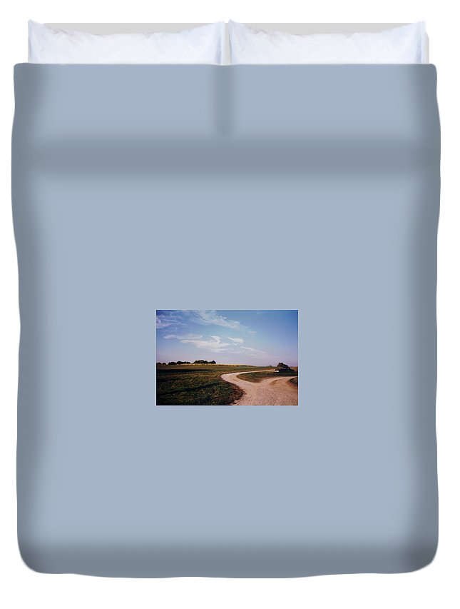 Landscape Duvet Cover featuring the photograph Tobacco Road by Stacy C Bottoms