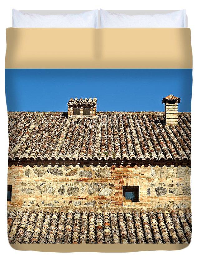 Spain Duvet Cover featuring the photograph Toledo Terra Cotta by John Greim