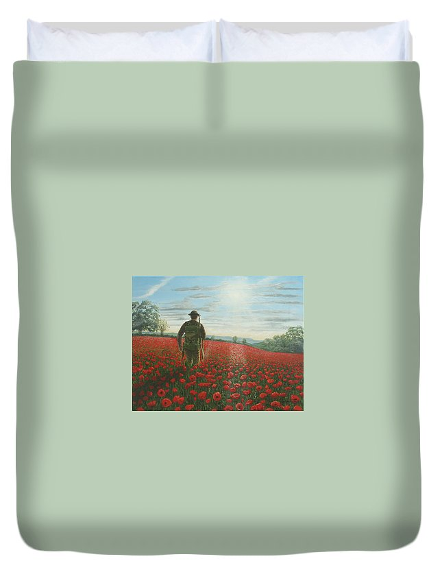Ww1 Duvet Cover featuring the painting Tommy 2 by Richard Harpum
