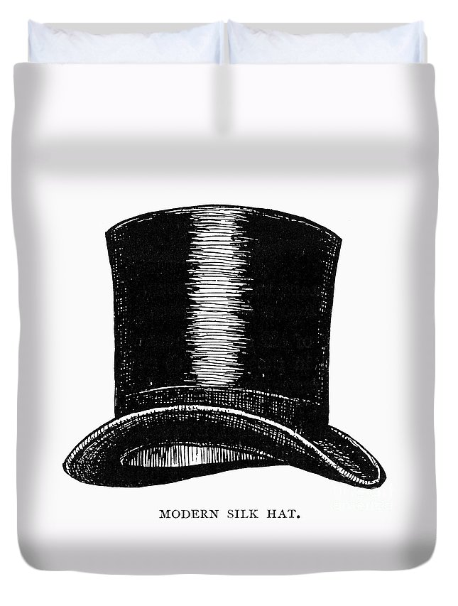 1900 Duvet Cover featuring the photograph Top Hat, 1900 by Granger