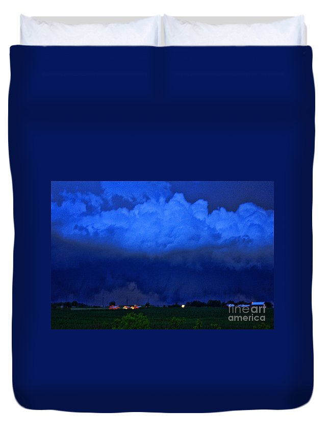 Tornado Duvet Cover featuring the photograph Tornado Over Madison 4 by Tommy Anderson