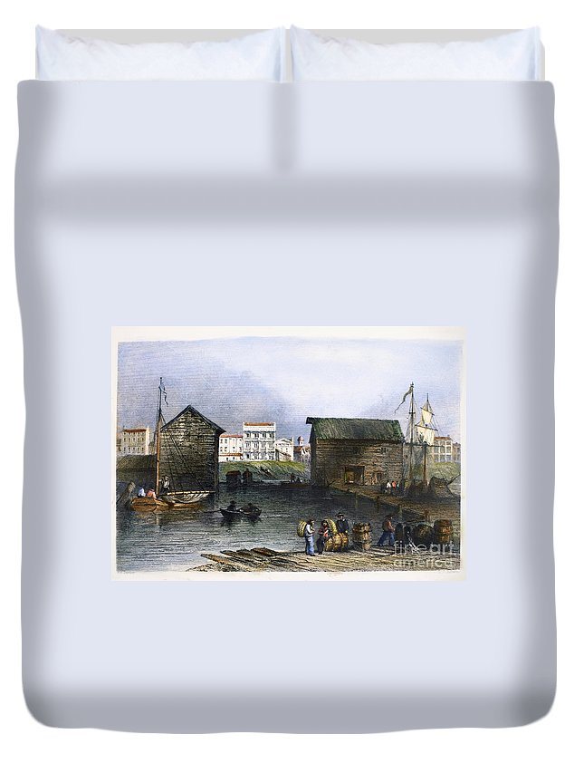 1842 Duvet Cover featuring the photograph Toronto, Canada, C1842 by Granger
