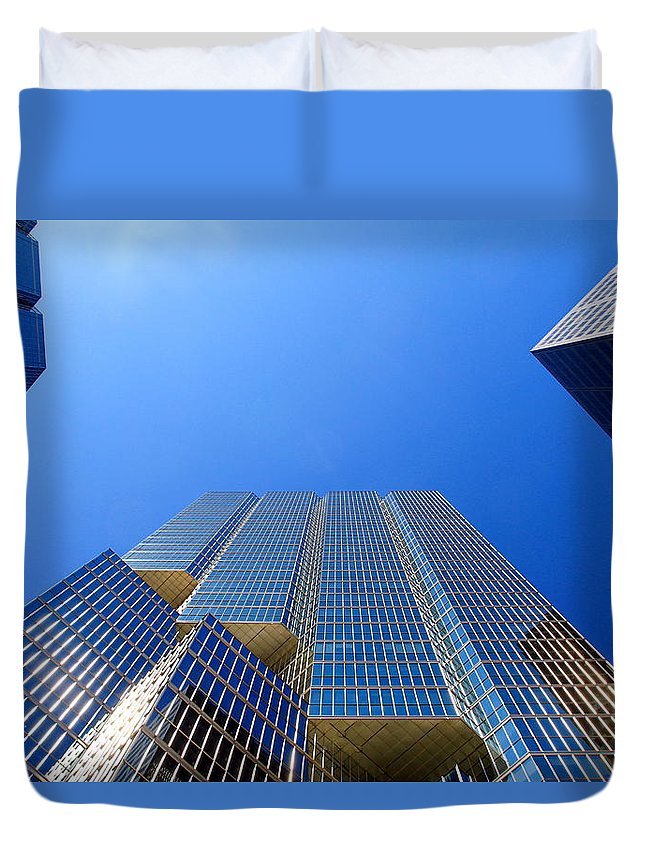Modern Duvet Cover featuring the photograph Toronto Financial Core Buildings by Valentino Visentini