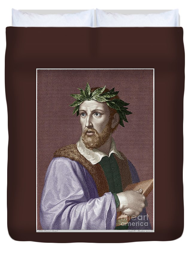 16th Century Duvet Cover featuring the photograph Torquato Tasso (1544-1595) by Granger