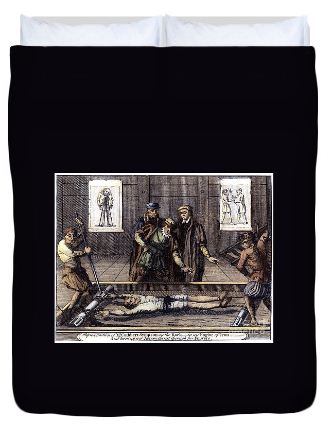 1550s Duvet Cover featuring the photograph Torture, 16th Century by Granger