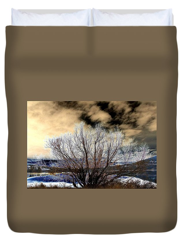 Touch Of Frost Duvet Cover featuring the digital art Touch Of Frost by Will Borden