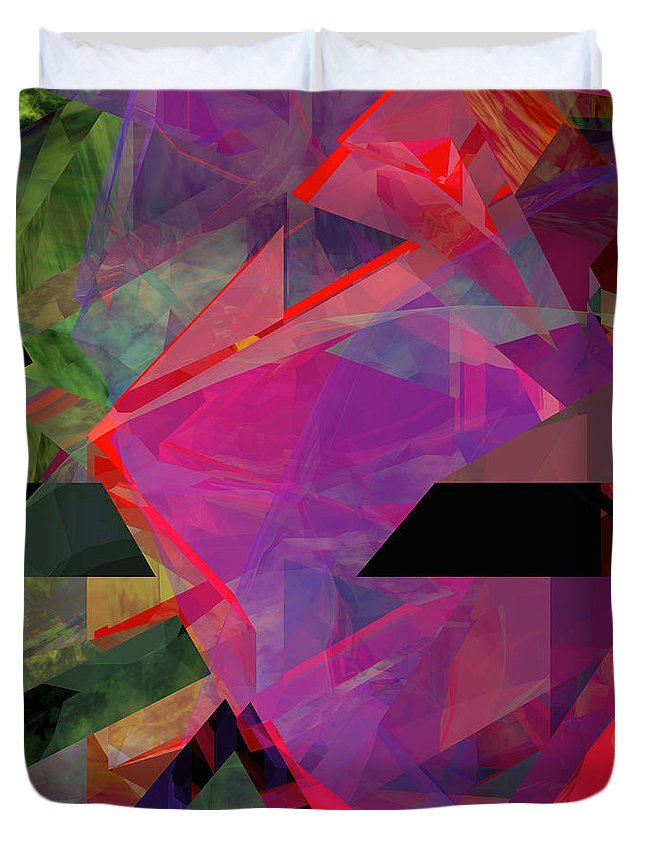 Abstract Duvet Cover featuring the digital art Tower Series 25 by Russell Kightley