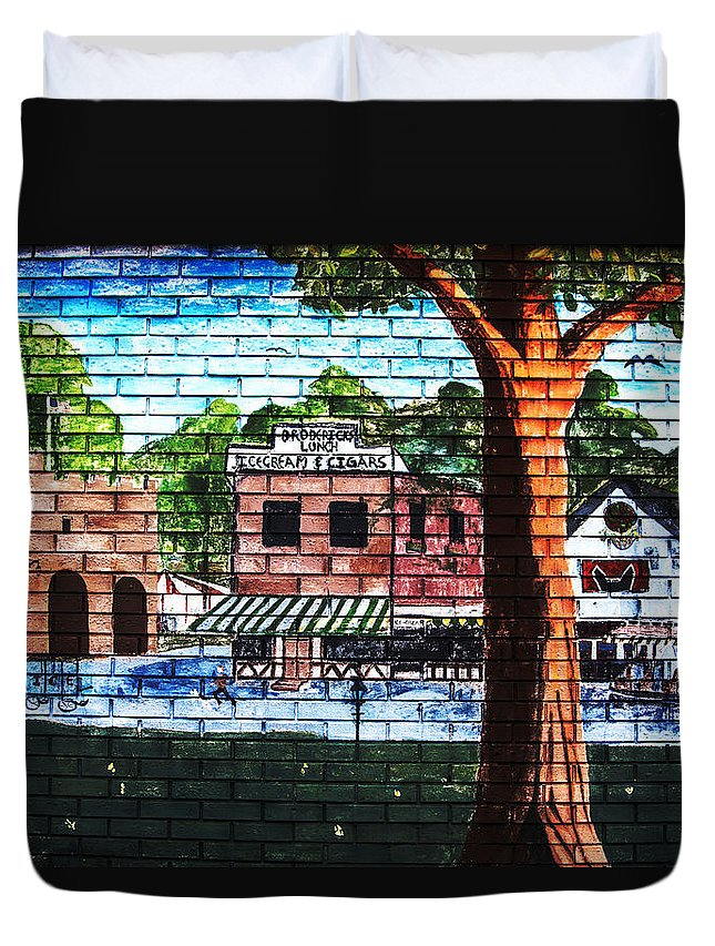 Wall Art Duvet Cover featuring the photograph Town Wall Art by Karol Livote