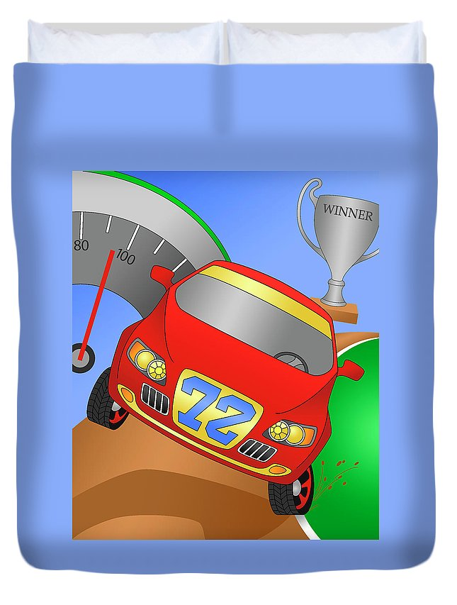 Vehicle Duvet Cover featuring the digital art Traction by Alison Stein