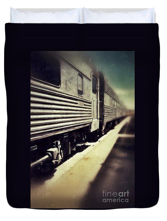 Train Duvet Cover featuring the photograph Train by Jill Battaglia