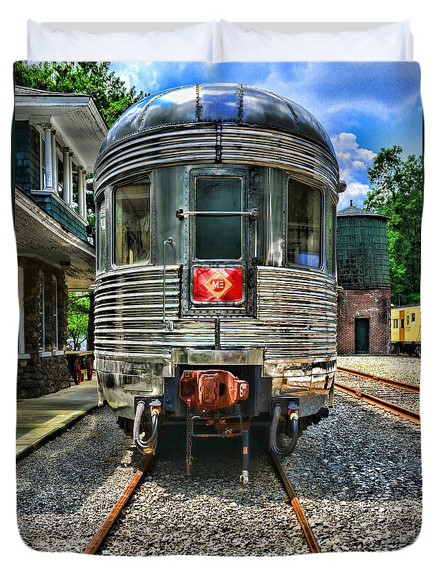 Train Duvet Cover featuring the photograph Train Of The Future by Paul Ward