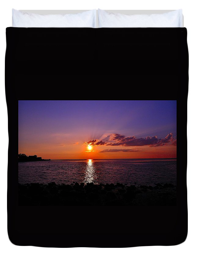Gulf Duvet Cover featuring the photograph Tranquility by Kari Tedrick