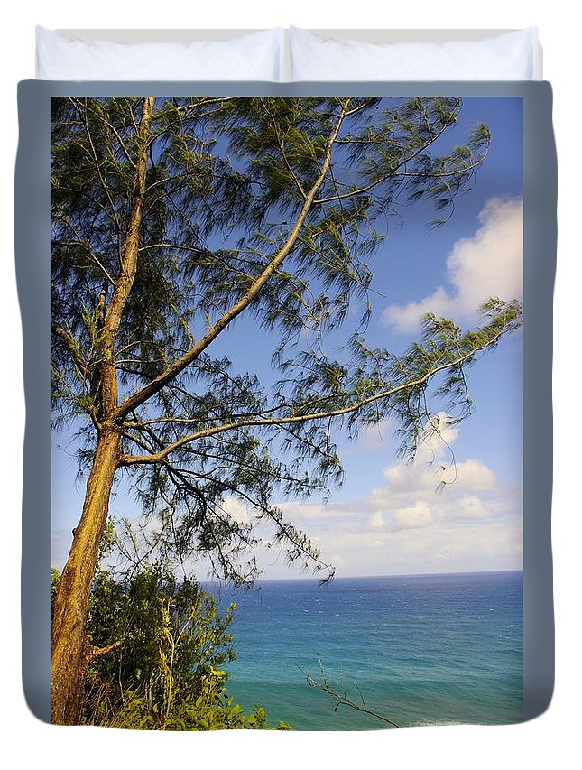 Kakakau Duvet Cover featuring the photograph Tree And A Tropical Beach by John Greaves