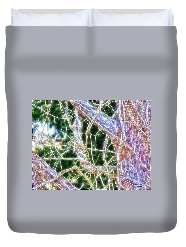 Tn Duvet Cover featuring the photograph Tree On Fire by Ericamaxine Price