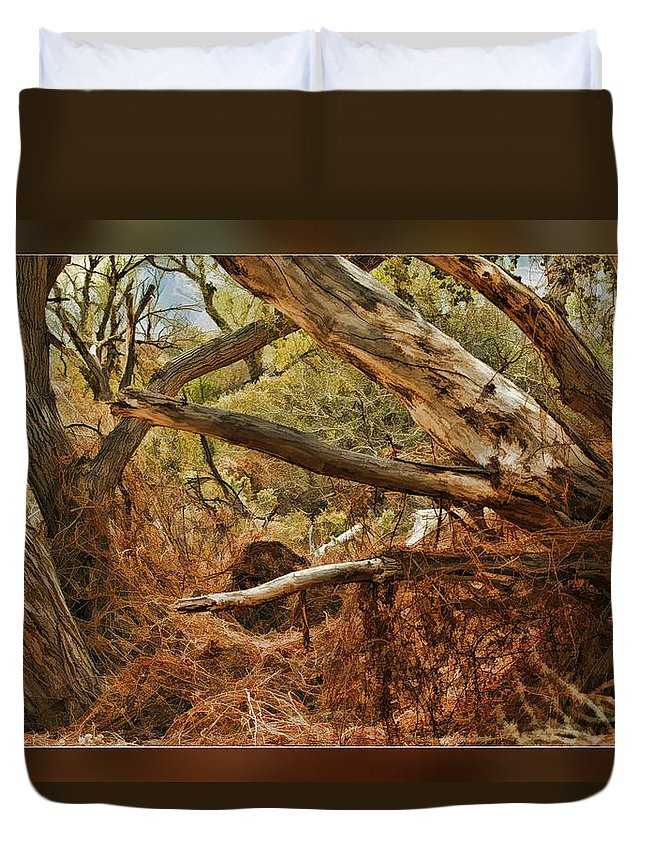 Fine Art Photographers Duvet Cover featuring the photograph Tree Woods by Blake Richards