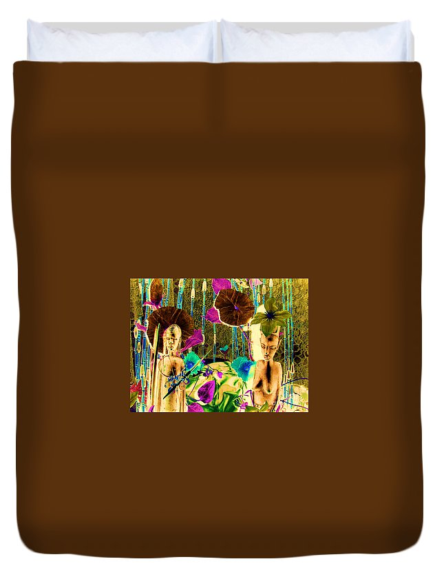 Tribal Duvet Cover featuring the photograph Tribal Color by Anthony Wilkening