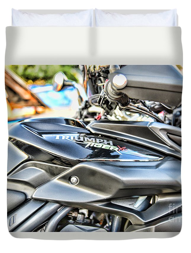 Triumph Tiger 800 Xc Gas Tank Duvet Cover For Sale By Paul Ward