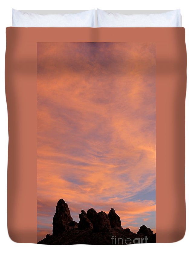 Trona Pinnacles Duvet Cover featuring the photograph Trona Pinnacles 9 by Vivian Christopher