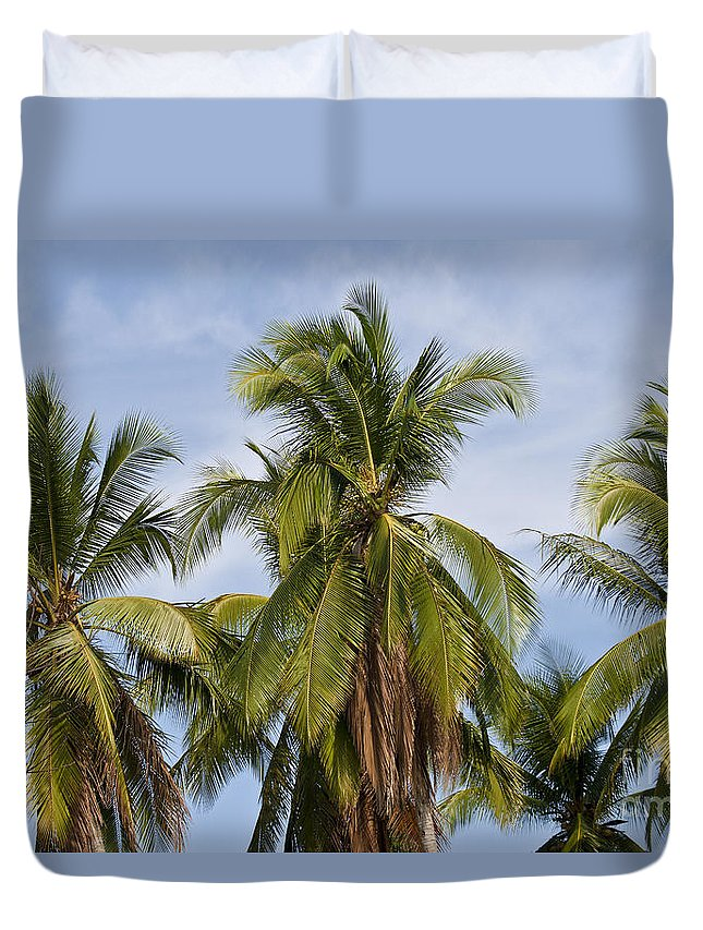 Nature Duvet Cover featuring the photograph Tropical Cliche by Heiko Koehrer-Wagner
