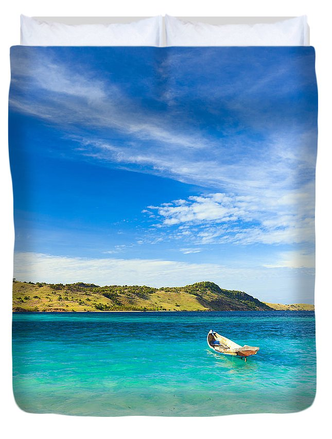 Tropical Duvet Cover featuring the photograph Tropical Island by MotHaiBaPhoto Prints