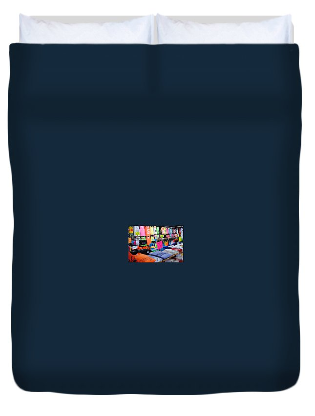 Fair Duvet Cover featuring the photograph T's by Skip Willits