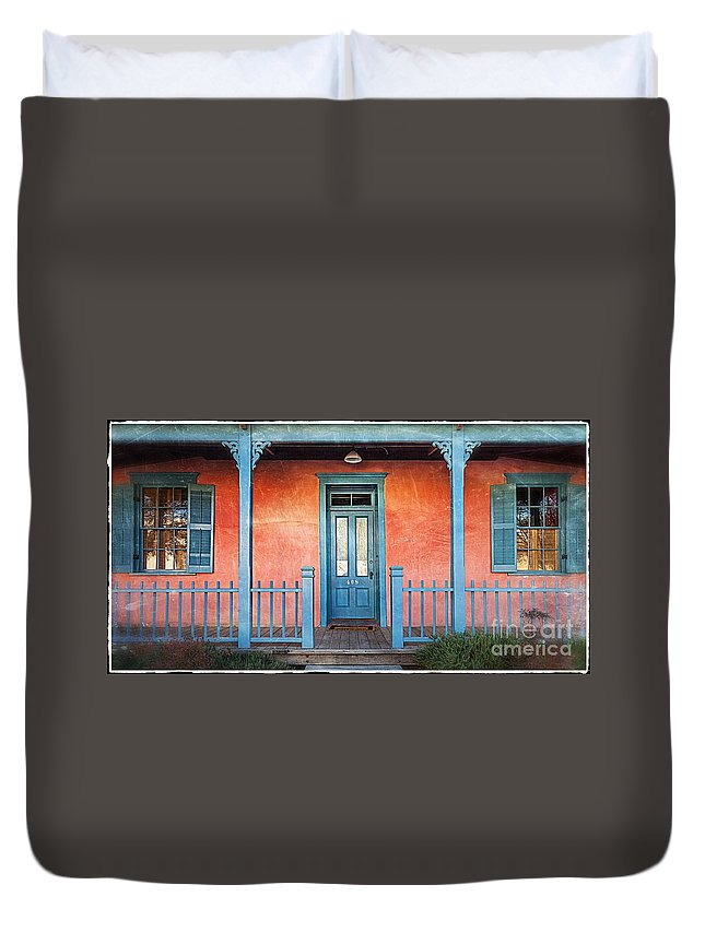 2011 Duvet Cover featuring the photograph Tucson Front Porch by Matt Suess